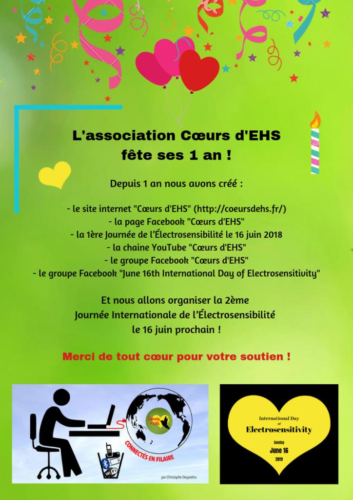 Cœurs d'EHS - 1er anniversaire