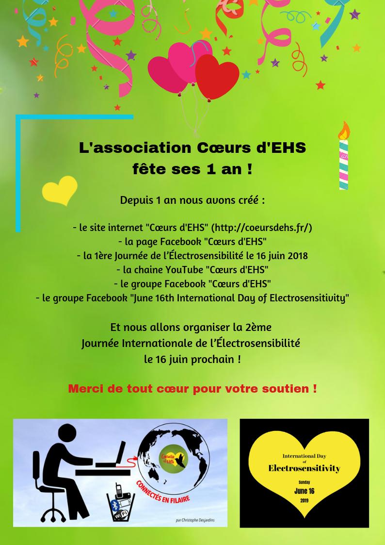 21 Mai 2019 – 1er anniversaire de Cœurs d'EHS