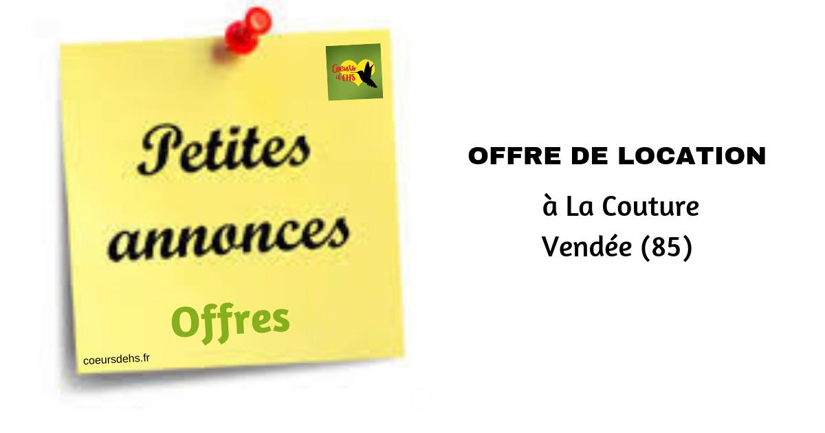 Offre de location, à La Couture (85)