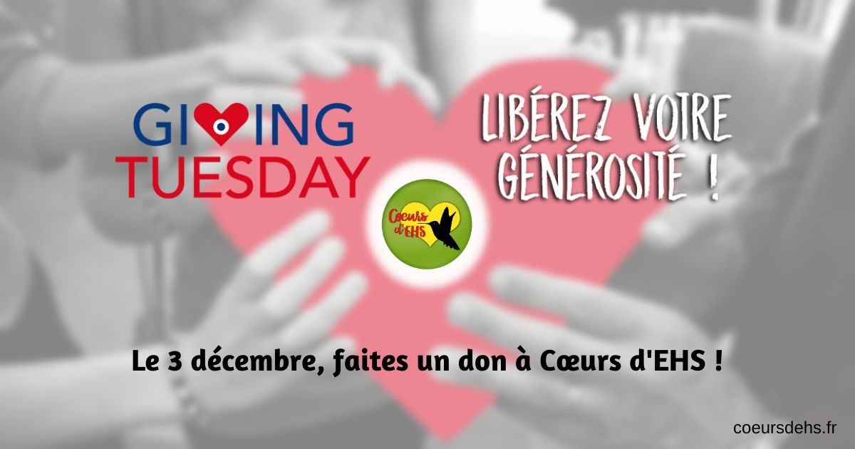 Giving Tuesday : Le 3 décembre, faites un don à Cœurs d'EHS !
