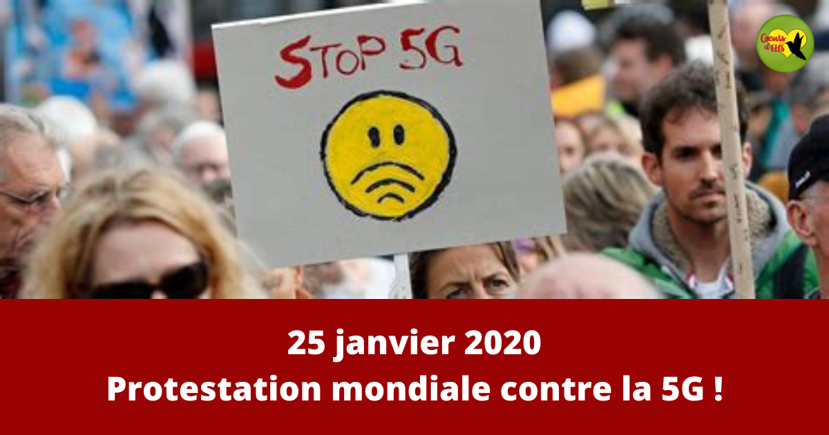 25 janvier 2020 – Journée mondiale de protestation contre la 5G