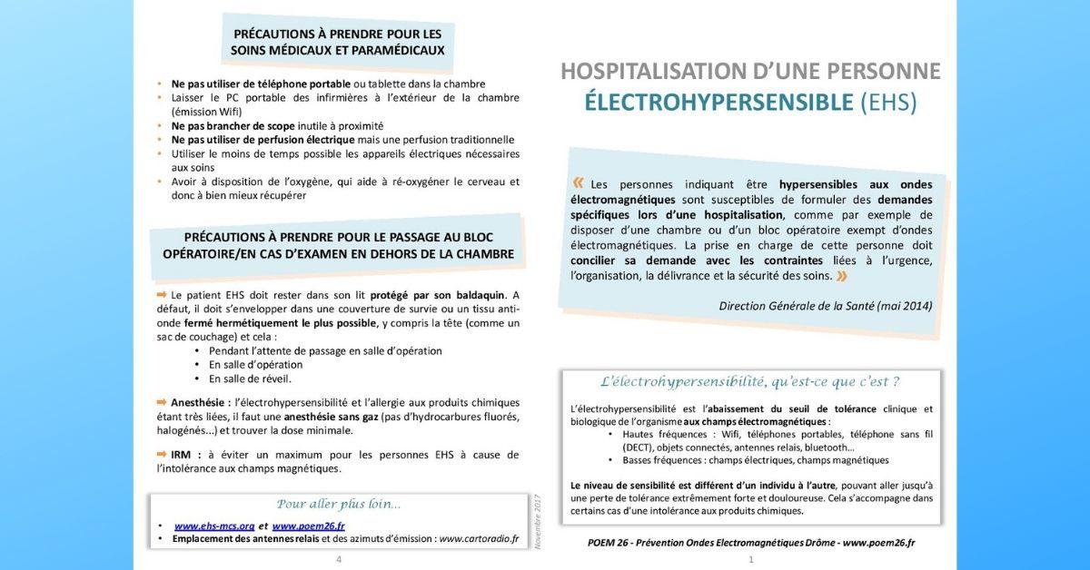 Hospitalisation des EHS – dépliants POEM26