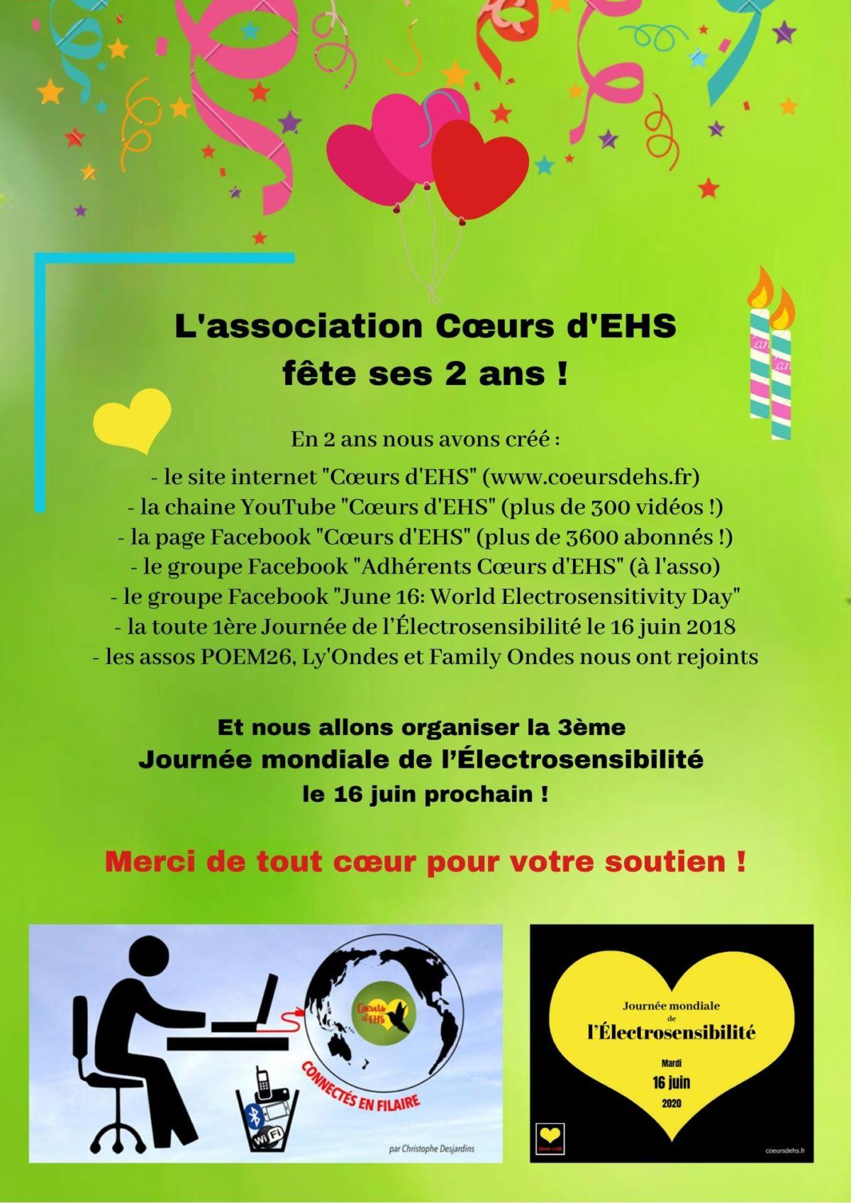 21 mai 2020 – Cœurs d'EHS fête ses 2 ans !