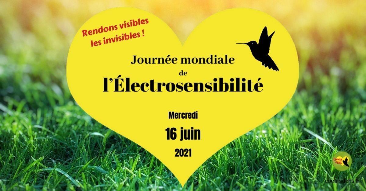 16 juin 2021 : 4ème Journée mondiale de l'Électrosensibilité